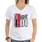 Mustang 2001 Women's V-Neck T-Shirt