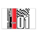 Mustang 2001 Rectangle Sticker 50 pk)