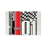 Mustang 2001 Rectangle Magnet (100 pack)