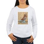 WOE Red Checker Women's Long Sleeve T-Shirt