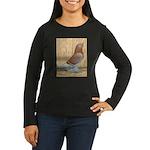 WOE Red Checker Women's Long Sleeve Dark T-Shirt