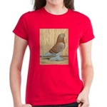 WOE Red Checker Women's Dark T-Shirt