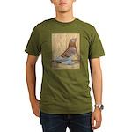WOE Red Checker Organic Men's T-Shirt (dark)