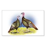 Rio Grande Wild Turkeys Rectangle Sticker 50 pk)