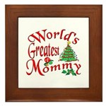 World's Greatest Mommy Framed Tile