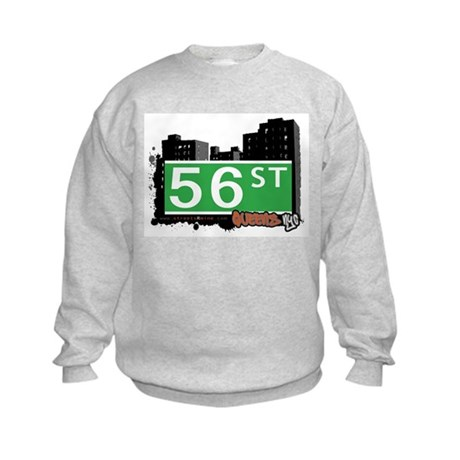 56 STREET, QUEENS, NYC Kids Sweatshirt