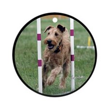 Customized Irish Terrier Ornament (Round)