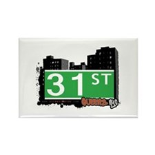 31 STREET, QUEENS, NYC Rectangle Magnet
