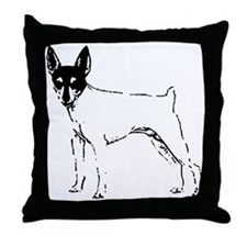 Toy Fox Terrier Throw Pillow