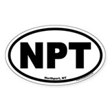 Northport NY NPT Euro Oval Decal