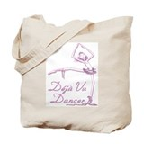 Pink INK Deja Vu Dance on White Tote Bag