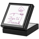 Pink INK Deja Vu Dance on White Keepsake Box