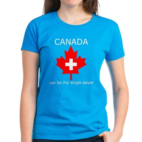 Canada Single Payer Women's Dark T-Shirt