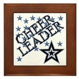 Cute Cheerleading Framed Tile