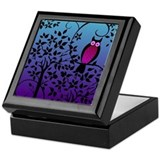 Funky Night Owl Keepsake Box