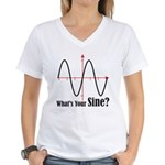 What's Your Sine? Women's V-Neck T-Shirt