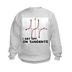 I Get Off On Tangents Kids Sweatshirt