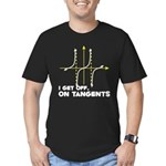 I Get Off On Tangents Men's Fitted T-Shirt (dark)
