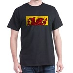Red Welsh Black T-Shirt