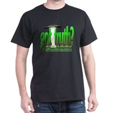 Black got truth?(green3) T-Shirt