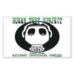 HTS Gas Mask Rectangle Sticker