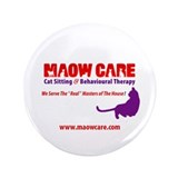 "Who's Maow Care? 3.5"" Button (100 pack)"