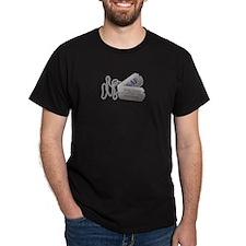 Veteran Dog Tags Black T-Shirt