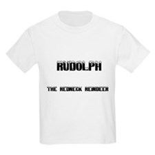 Rudolph The Redneck Reindeer Kids T-Shirt