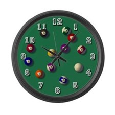 Billiards LARGE Wall Clock