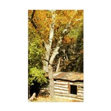 Fall Colors Log Cabin Rectangle Decal
