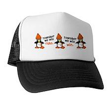 Winter Penguin 5 (Orange) Trucker Hat