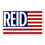 Harry Reid American Flag bumper sticker