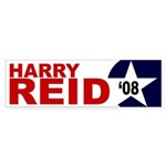 Harry Reid '08 (star bumper sticker)