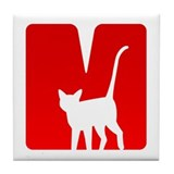 M for Maow! Tile Coaster