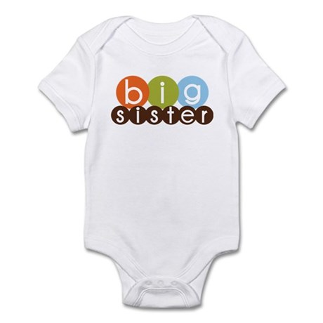 mod circles big sister shirts Infant Bodysuit