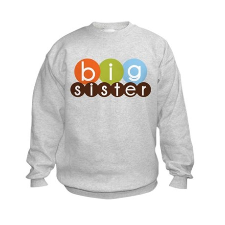 mod circles big sister shirts Kids Sweatshirt