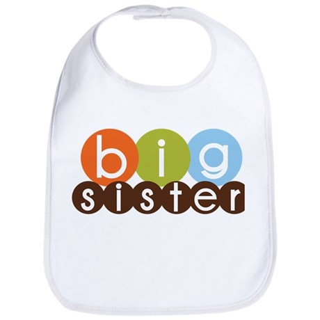 mod circles big sister shirts Bib