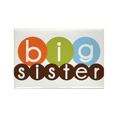 mod circles big sister shirts Rectangle Magnet