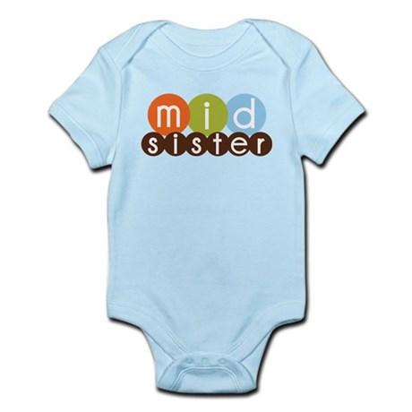 mod circles middle sister shirts Infant Bodysuit