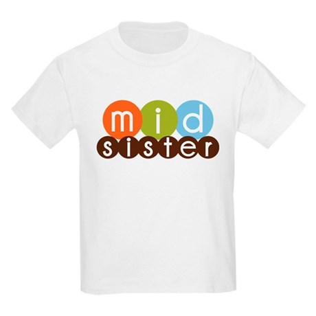 mod circles middle sister shirts Kids Light T-Shir