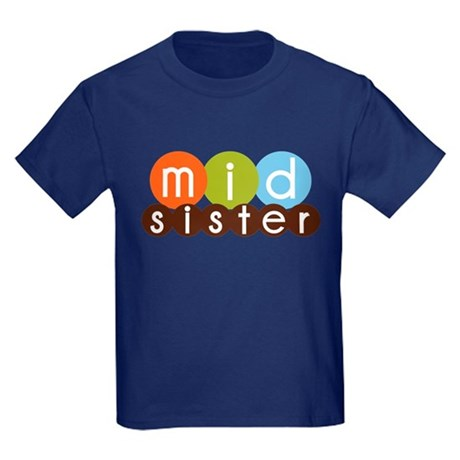 mod circles middle sister shirts Kids Dark T-Shirt