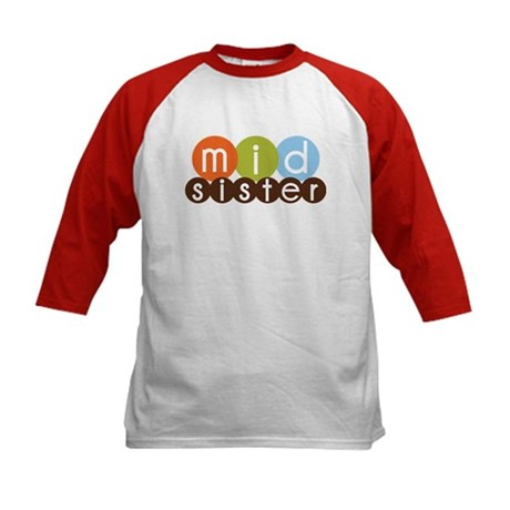 mod circles middle sister shirts Kids Baseball Jer