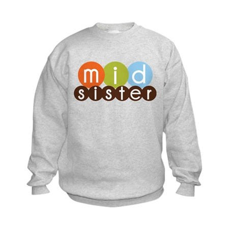 mod circles middle sister shirts Kids Sweatshirt