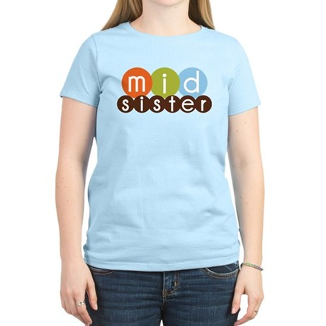 mod circles middle sister shirts Women's Light T-S