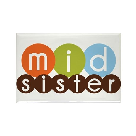 mod circles middle sister shirts Rectangle Magnet