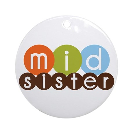 mod circles middle sister shirts Ornament (Round)