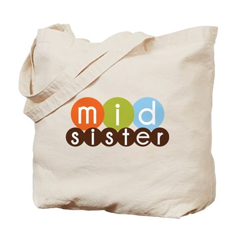 mod circles middle sister shirts Tote Bag