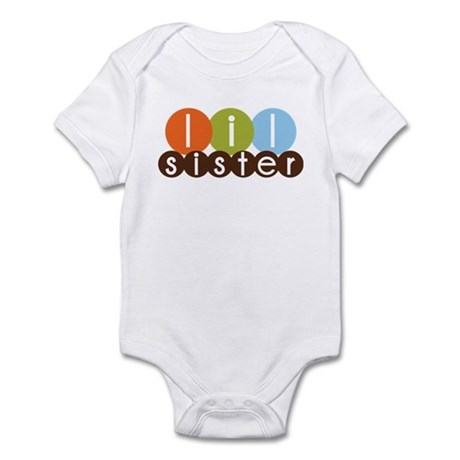 mod circles little sister shirts Infant Bodysuit