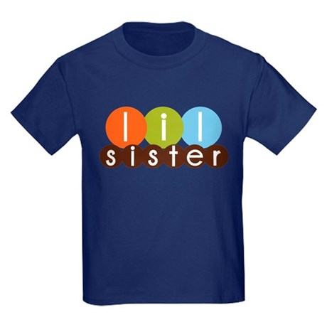 mod circles little sister shirts Kids Dark T-Shirt