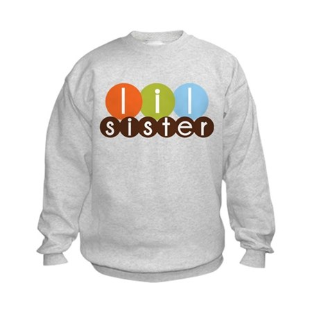 mod circles little sister shirts Kids Sweatshirt